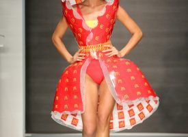 Miami Swim Week – A collection made of McDonald's packaging