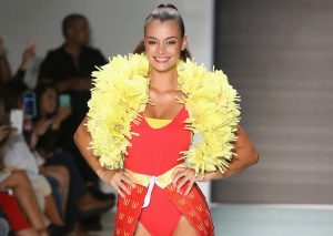 Miami Swim Week - A collection made of McDonald's packaging