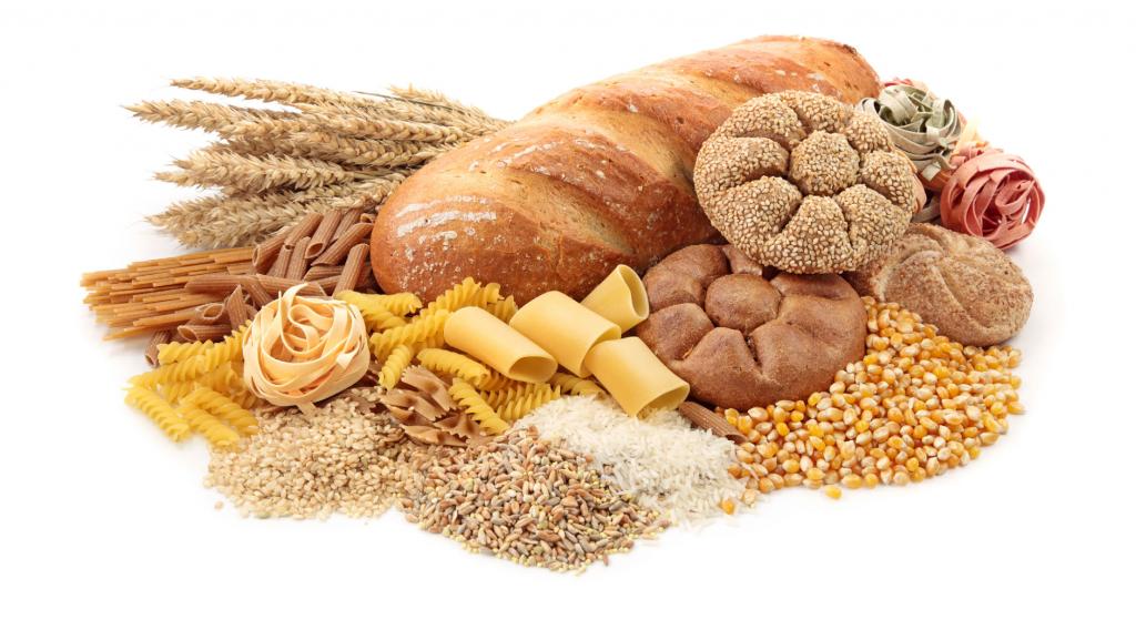 grains pasta bread